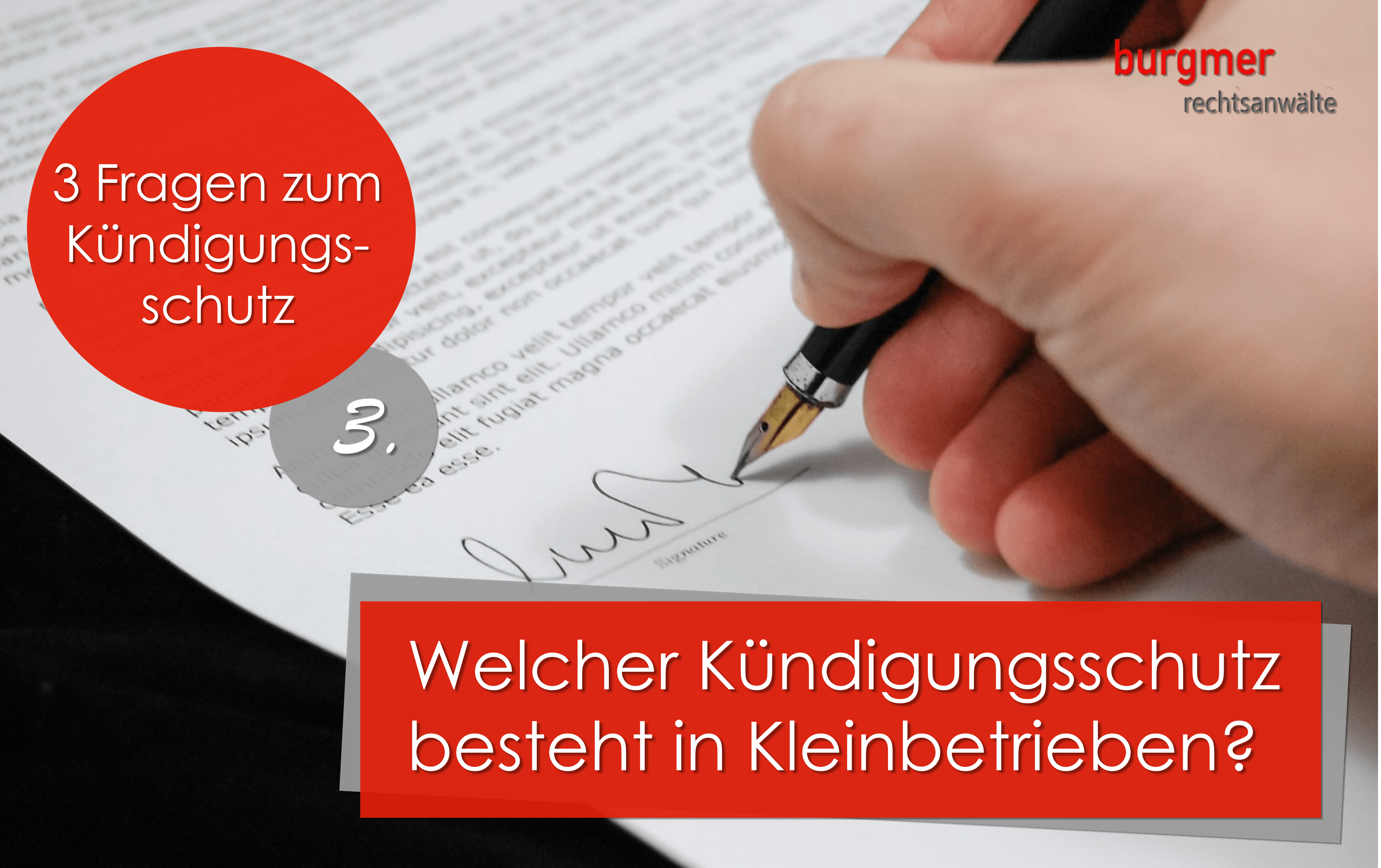 Kündigungsschutz In Kleinbetrieben Burgmer Rechtsanwälte