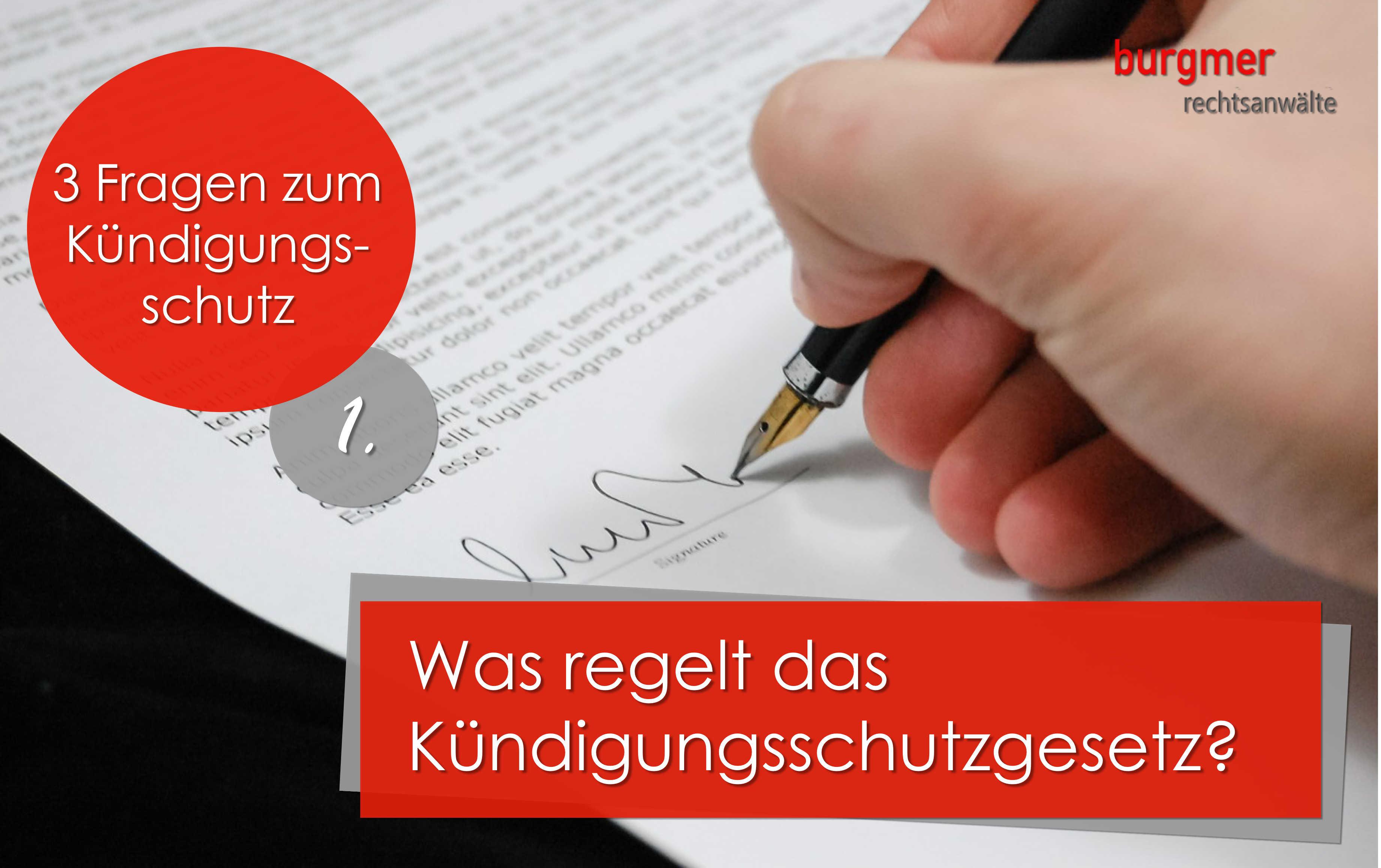 Kündigungsschutz Archive Burgmer Rechtsanwälte