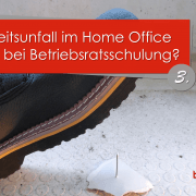Arbeitsunfall im Home Office