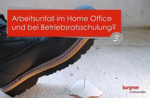 Arbeitsunfall im Home Office