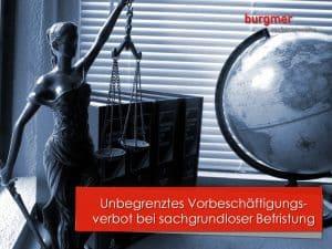 Vorbeschäftigungsverbot