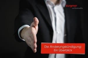 Die änderungskündigung Burgmer Rechtsanwälte