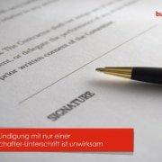 Gesellschafter-Unterschrift